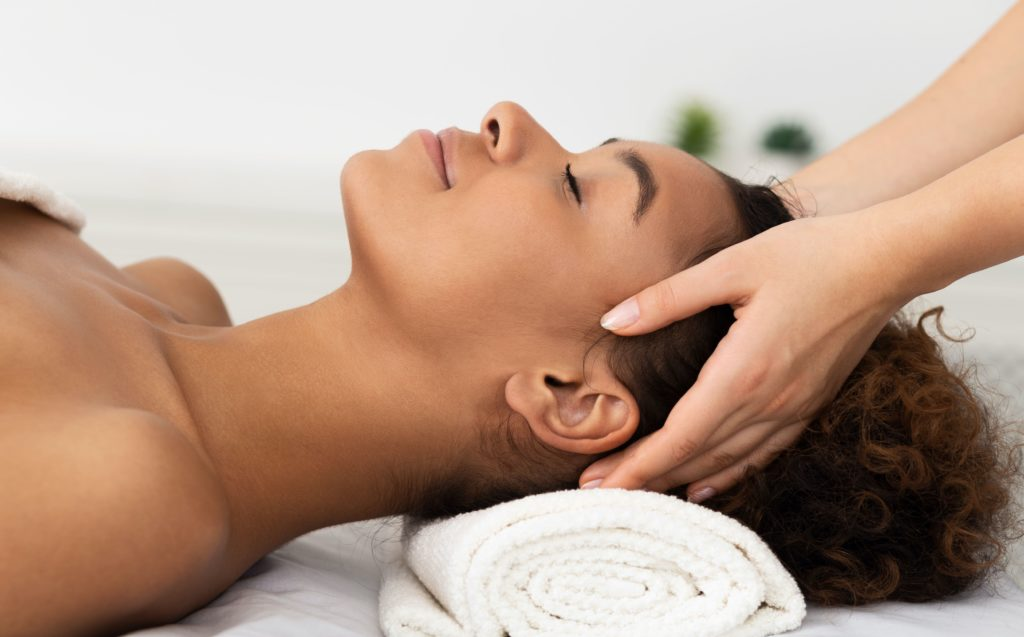 Women receiving massage